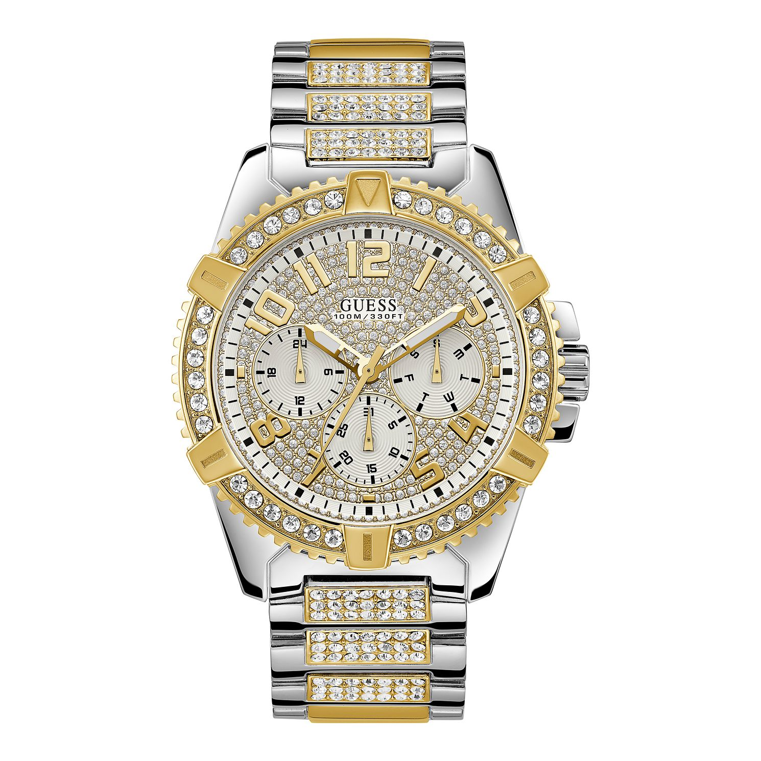 Guess Men's Crystal Dial Two Tone Bracelet Watch - Product number 1000888