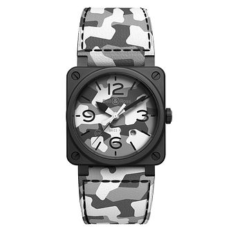 Bell & Ross Br03 Men's White Camo Ceramic Black Watch - Product number 1001760