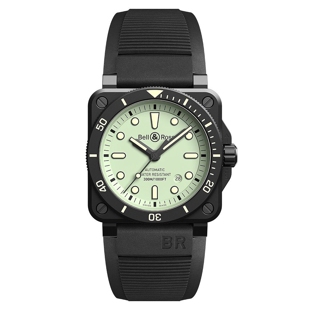 Bell & Ross Br03 Men's Black Ceramic Strap Watch - Product number 1001779