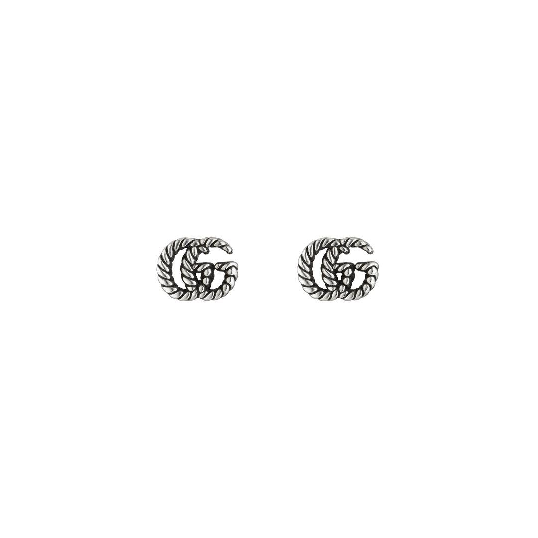 Gucci GG Marmont Silver Stud Earrings - Product number 1002341