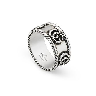 Gucci Double G Marmont Ladies' Silver M-N Ring - Product number 1002376