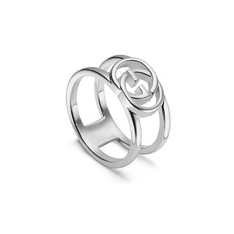 Gucci Interlocking G Open Ladies' Silver L-M Ring - Product number 1002430