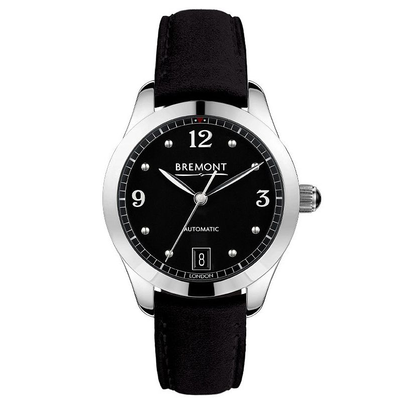 Bremont Solo-34 Aj Ladies' Black Leather Strap Watch - Product number 1002686