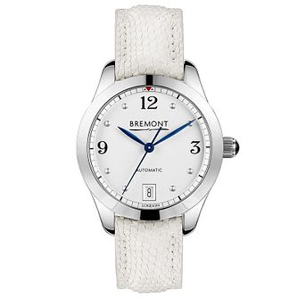 Bremont Solo-34 Aj Ladies' White Leather Strap Watch - Product number 1002732