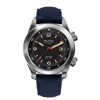 Bremont Argonaut Men's Blue Fabric Strap Watch - Product number 1002821