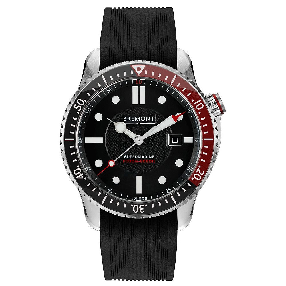 Bremont Supermarine S2000 Men's Black Rubber Strap Watch - Product number 1003135