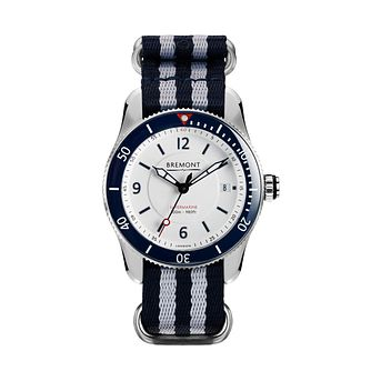Bremont S300 Men's Striped Strap Watch - Product number 1003178