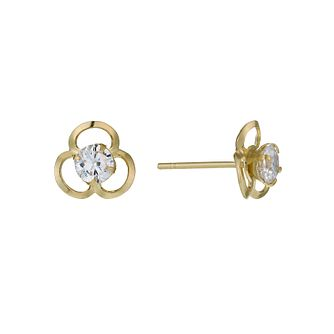 9ct Yellow Gold Cubic Zirconia Earrings - Product number 1003275