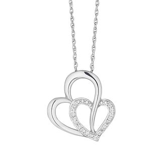 Silver Diamond Heart Pendant - Product number 1003291