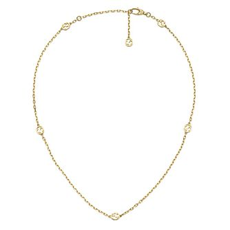 Gucci Interlocking G Ladies' 18ct Yellow Gold Small Necklace - Product number 1003518