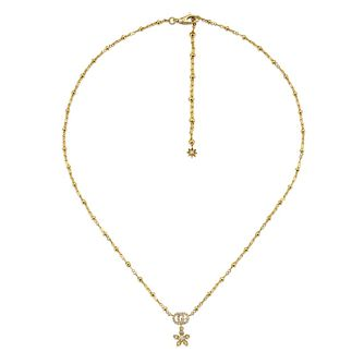 Gucci Flora Ladies' 18ct Yellow Gold & Diamond Pendant - Product number 1004174