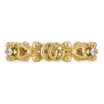 Gucci Flora Ladies' 18ct Yellow Gold & Diamond Ring - Product number 1004212