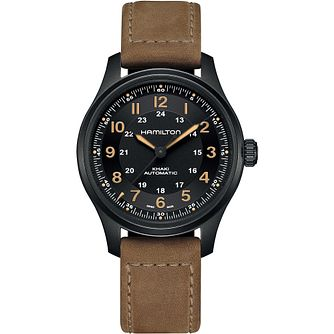 Hamilton Khaki Field Titanium Auto Men's Leather Strap Watch - Product number 1007122