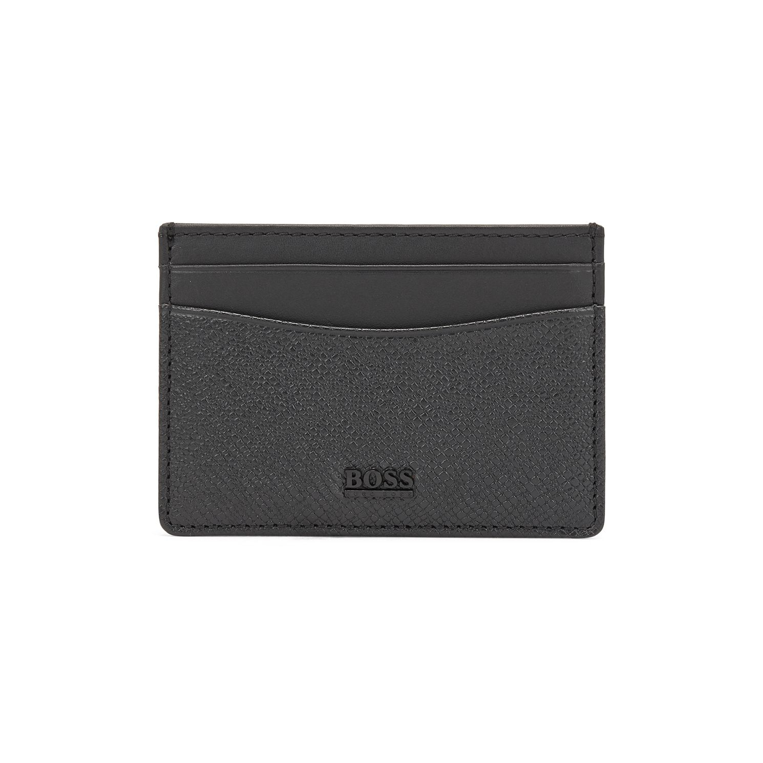 BOSS Signpop Men's Grey Leather Cardholder - Product number 1008684