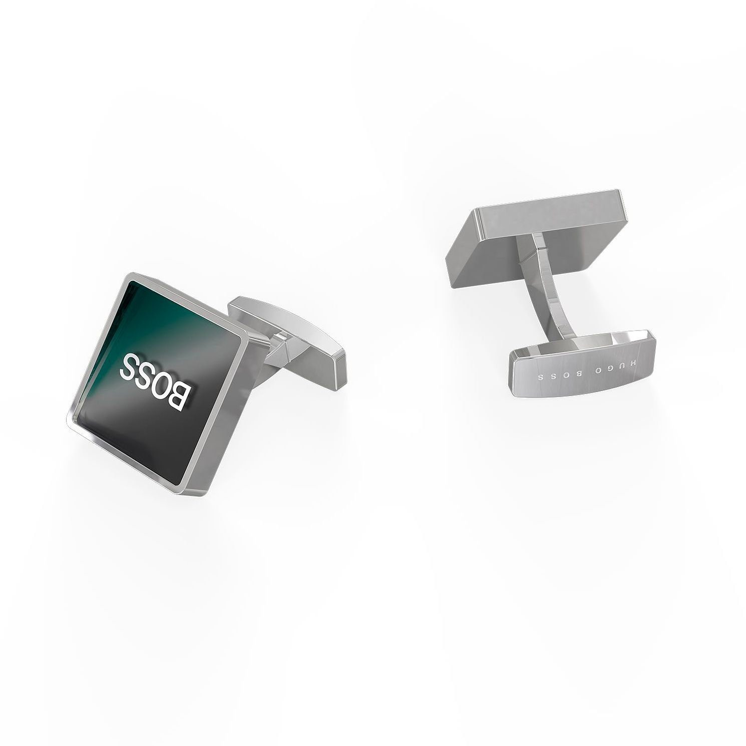 BOSS Skye Men's Grey Enamel Square Cufflinks - Product number 1008714