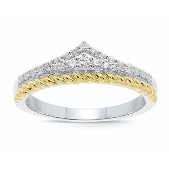 Wonder Woman Silver & 9ct Yellow Gold 0.23ct Diamond Ring - Product number 1009400