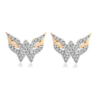 Wonder Woman 9ct Yellow Gold 0.11ct Diamond Earrings - Product number 1009680