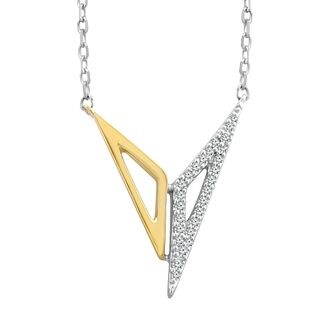 Wonder Woman Sterling Silver & 9ct Gold Diamond Pendant - Product number 1009710