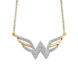 Wonder Woman 9ct Yellow Gold 0.11ct Diamond Pendant - Product number 1009729