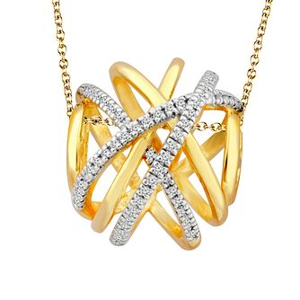 Wonder Woman 9ct Yellow Gold Diamond Pendant - Product number 1009745