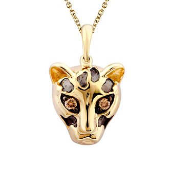 Wonder Woman 9ct Yellow Gold Diamond Cheetah Pendant - Product number 1009753