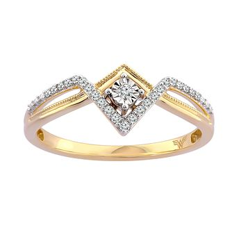 Wonder Woman 9ct Gold 0.08ct Diamond Ring - Product number 1009761