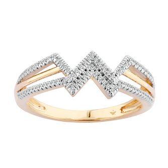 Wonder Woman 9ct Yellow Gold 0.11ct Diamond Ring - Product number 1010050