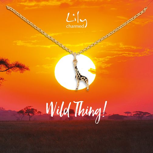 Lily Charmed Yellow Gold Plated Giraffe Pendant - Product number 1011294