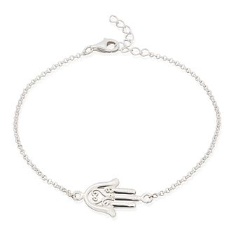 Lily Charmed Silver Fatima Hand Bracelet - Product number 1011340