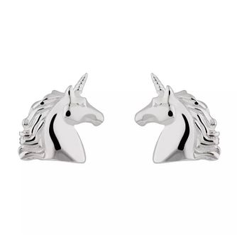 Lily Charmed Silver Unicorn Earrings - Product number 1011545