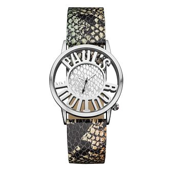 Paul's Boutique Ladies' Snake Print Strap Watch - Product number 1014641