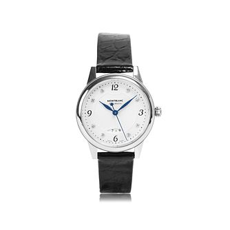 Montblanc Boheme Diamond Date Ladies' Leather Strap Watch - Product number 1016210