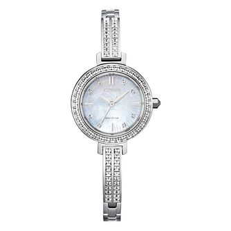 Citizen Silhouette Crystal Stainless Steel Bracelet Watch - Product number 1016733