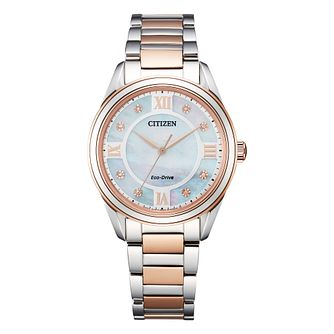 Citizen Arezzo Ladies' Two Tone Bracelet Watch - Product number 1016776