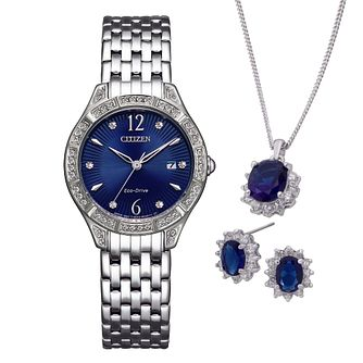 Citizen Ladies' Crystal Watch & Jewellery Gift Set - Product number 1016784