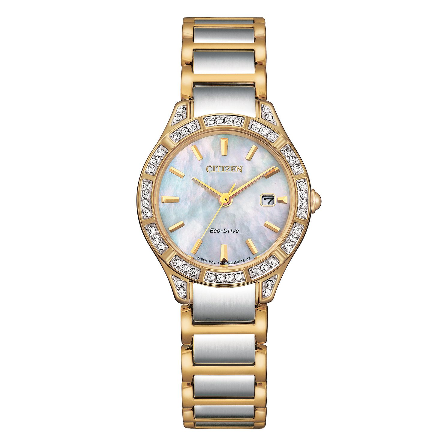 Citizen Silhouette Crystal Ladies' Two Tone Bracelet Watch - Product number 1016792