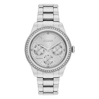 Citizen Crystal Ladies' Stainless Steel Bracelet Watch - Product number 1016822