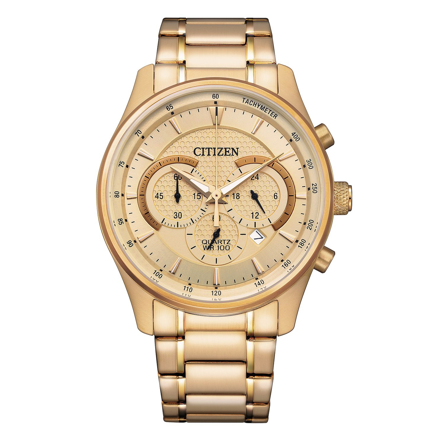 Citizen Chronograph Men's Yellow Gold Tone Bracelet Watch - Product number 1016830