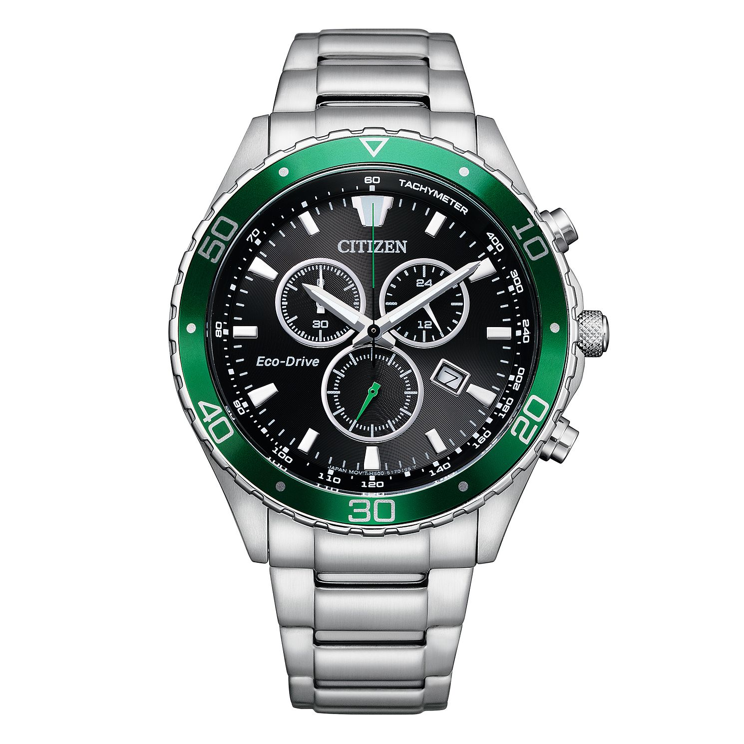 Citizen Eco-Drive Chronograph Stainless Steel Bracelet Watch - Product number 1016857