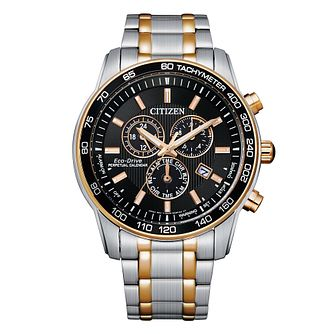 Citizen Perpetual Calendar Men's Two Tone Bracelet Watch - Product number 1016873