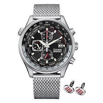 Citizen Red Arrows Stainless Steel Mesh Bracelet Watch - Product number 1016911