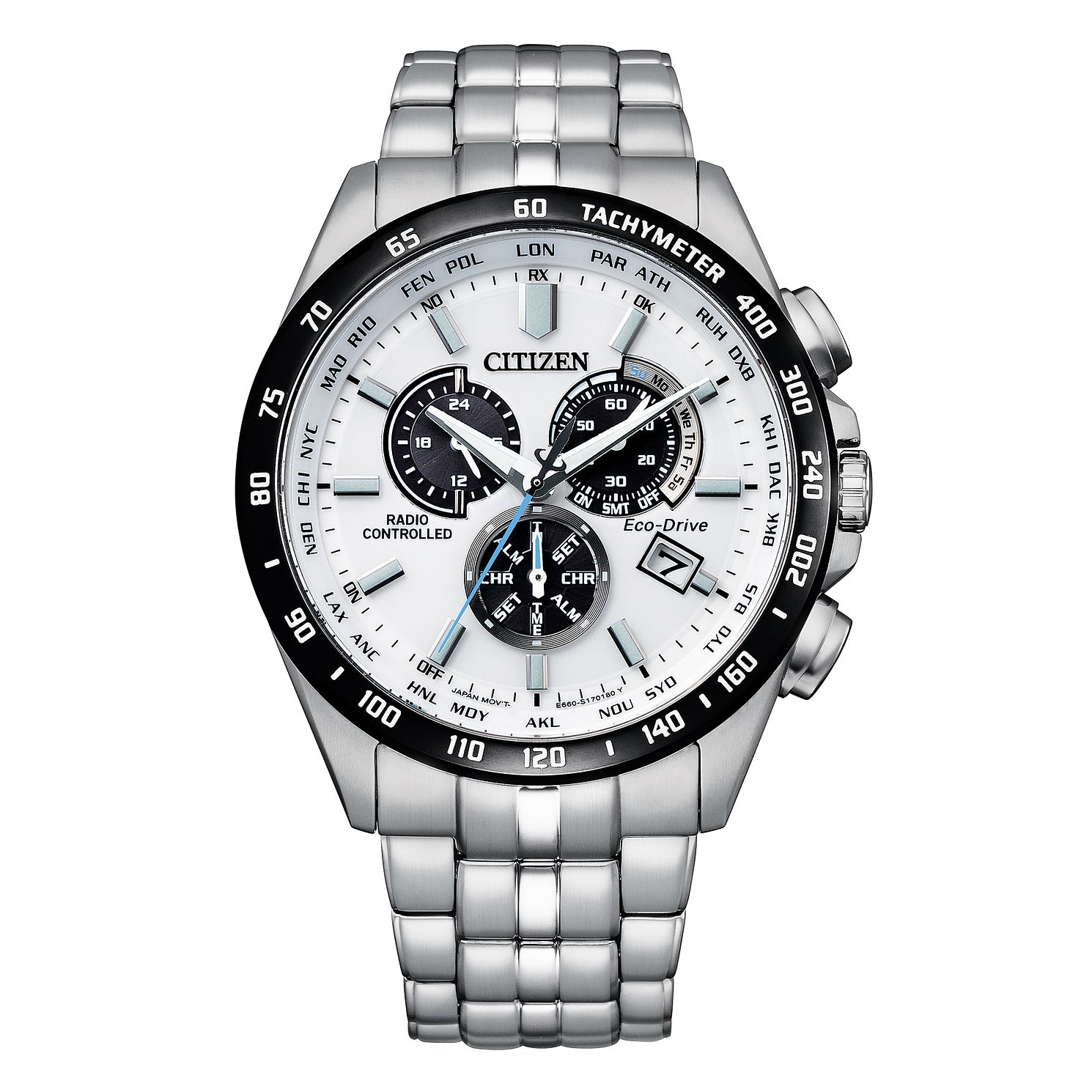 Citizen Atomic Time Men's Stainless Steel Bracelet Watch - Product number 1016938