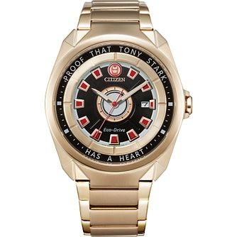 Citizen Marvel Tony Stark Rose Gold IP Bracelet Watch - Product number 1016954