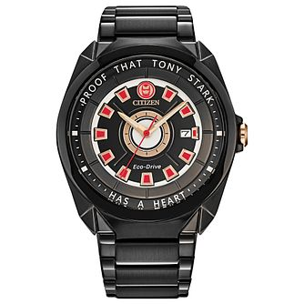 Citizen Marvel Tony Stark Black IP Bracelet Watch - Product number 1016962