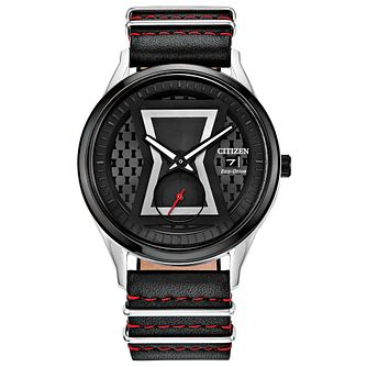 Citizen Marvel Black Widow Black Leather Strap Watch - Product number 1017004