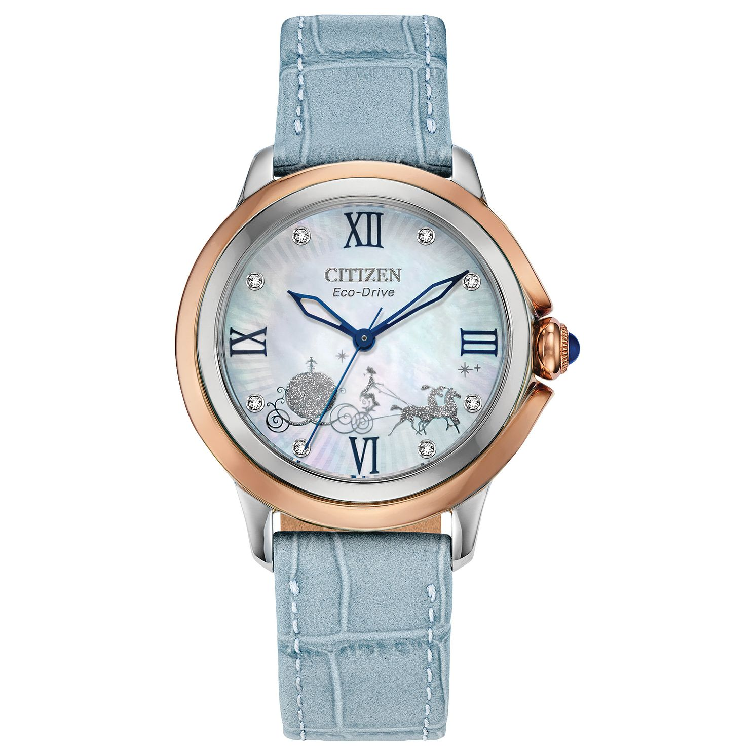 Citizen Disney Cinderella Blue Leather Strap Watch - Product number 1017039