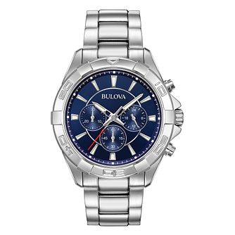 Bulova Chronograph Stainless Steel Bracelet Watch - Product number 1017373
