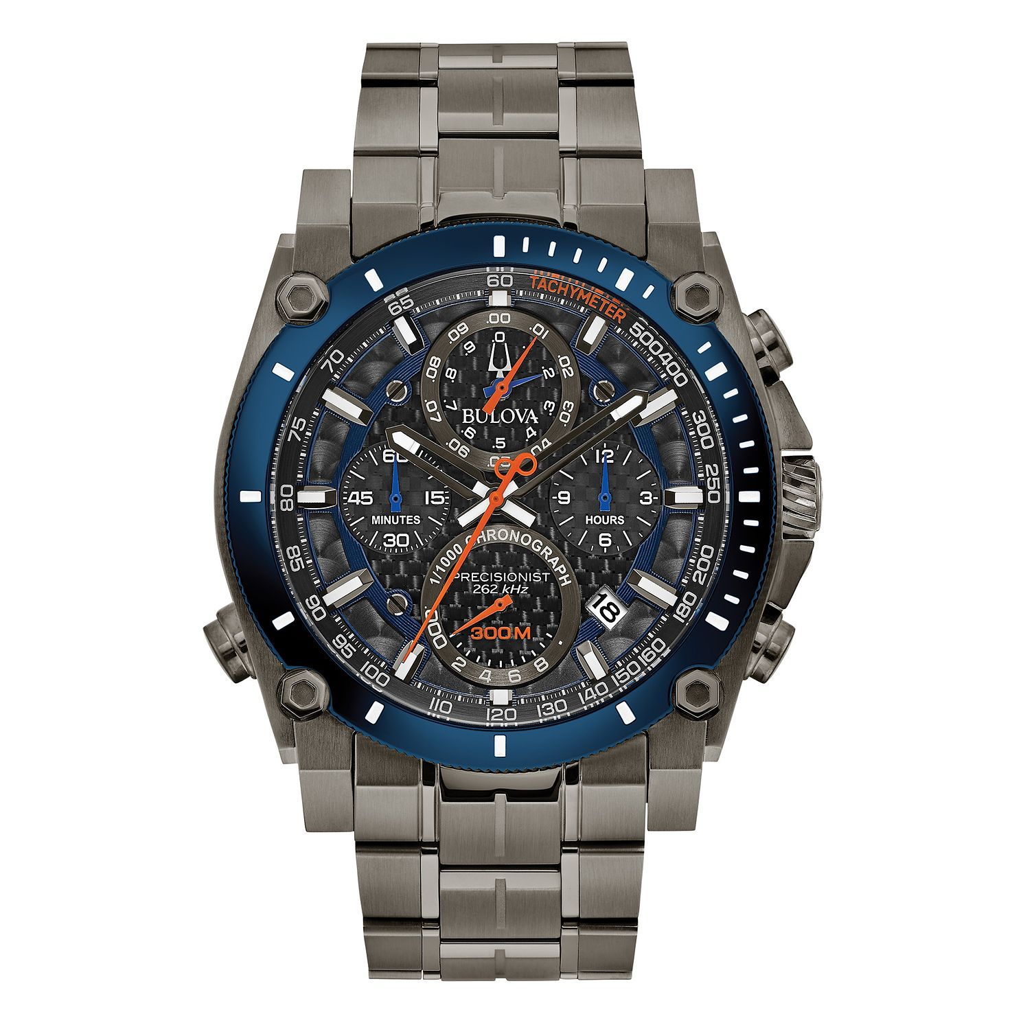 Bulova Precisionist Men's Grey Ion-Plated Bracelet Watch - Product number 1017411