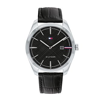 Tommy Hilfiger Theo Men's Black Leather Strap Watch - Product number 1017799