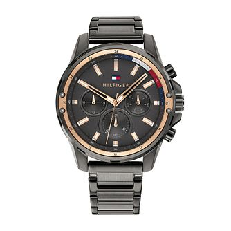 Tommy Hilfiger Mason Men's Grey IP Bracelet Watch - Product number 1017810